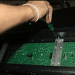 assemble scrolling sign screw