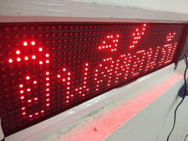 ป้ายไฟวิ่ง red จอ led running sign 5