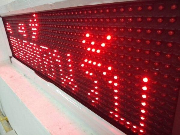 จอแสดงป้ายไฟวิ่งจอLED ป้ายไฟวิ่ง red single color ป้ายไฟวิ่ง jled