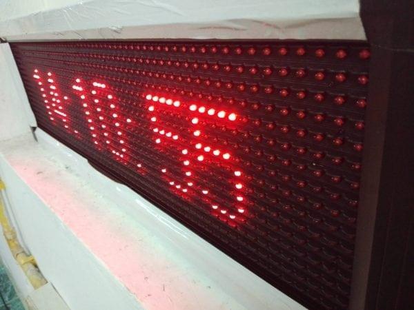 ป้ายไฟวิ่ง red จอ led single colour text moving sign