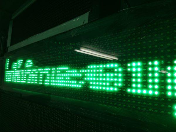 ป้ายไฟวิ่ง green single color จอled ป้ายไฟ jled product