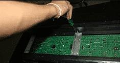 assemble scrolling sign screw