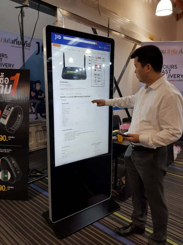 "55"" Digital Signage Kiosk จอโฆษณา ดิจิตอล LED Touchscreen 102"