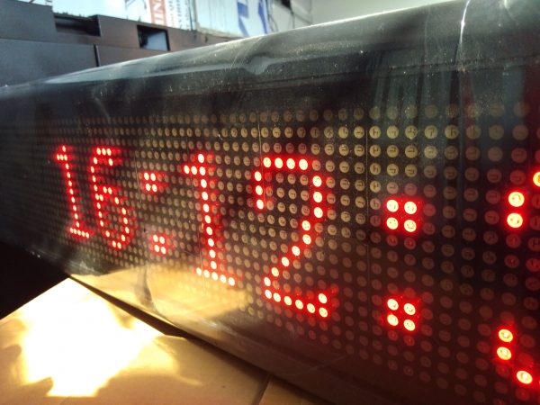 led display ป้ายไฟวิ่ง red single color จอ led scrolling sign jled ป้ายไฟ