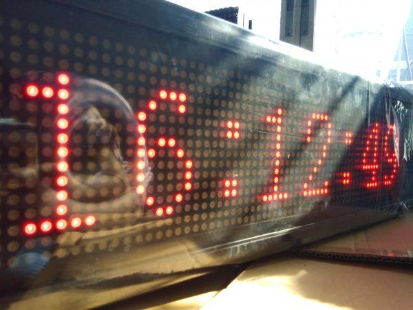 ป้ายไฟวิ่ง red single color จอ led scrolling sign jled led display ป้ายไฟ
