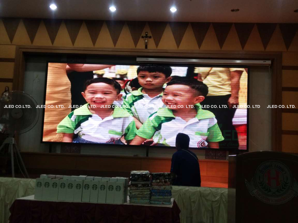 จอLED Display P6 Full Color Indoor Phraharuthai Nonthaburi School