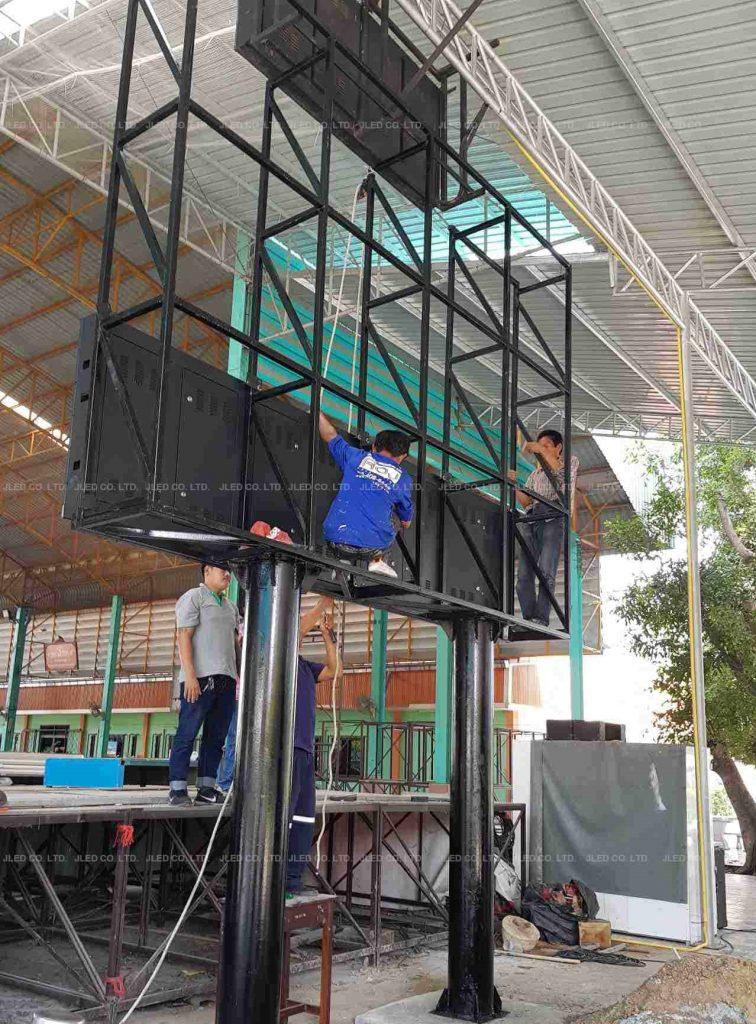 จอLED Display Indoor P10 โรงเรียนกำแพงแสนวิทยา structure