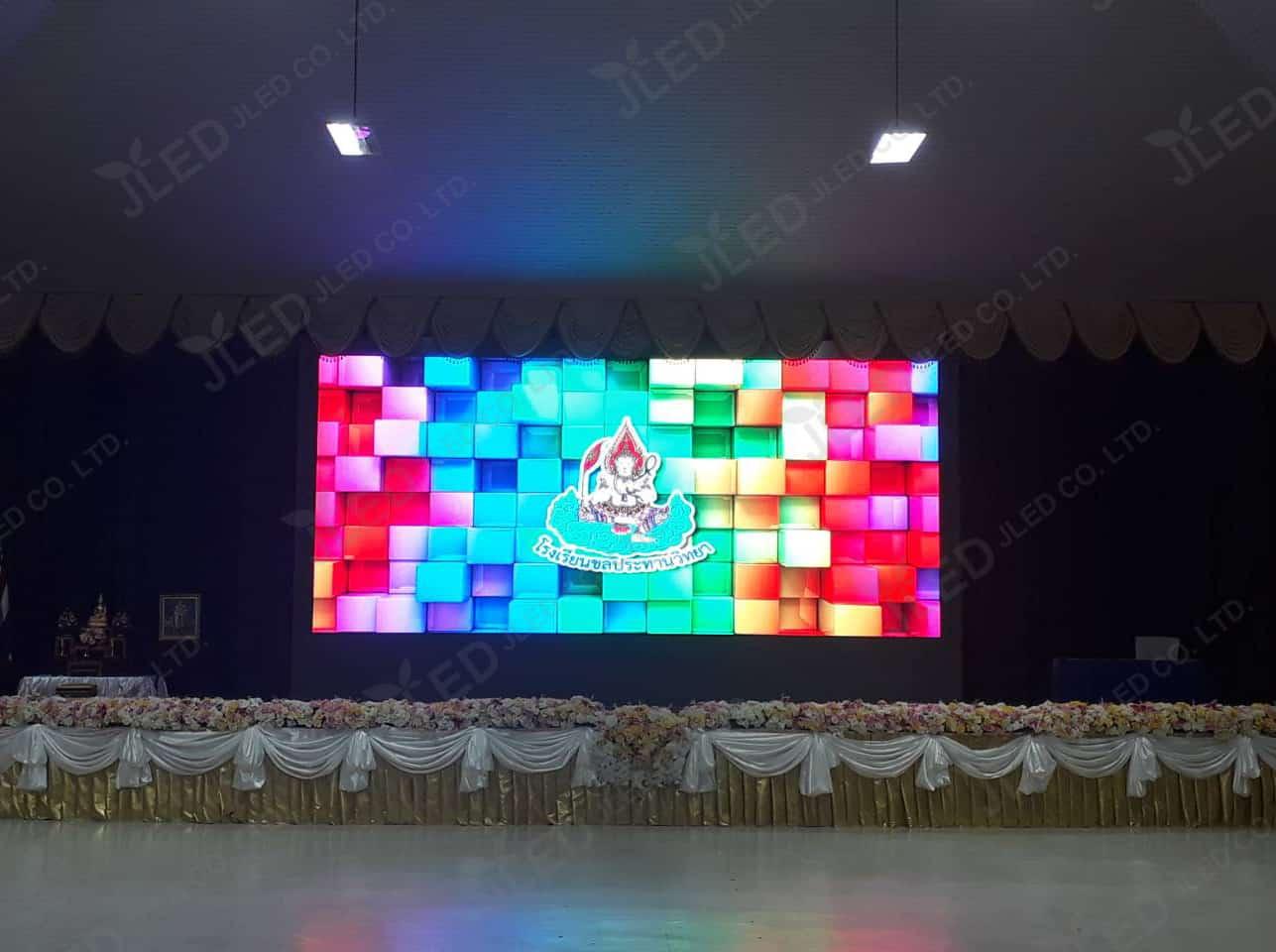 จอled display indoor p6 โรงเรียนชลประทานวิทยา jled
