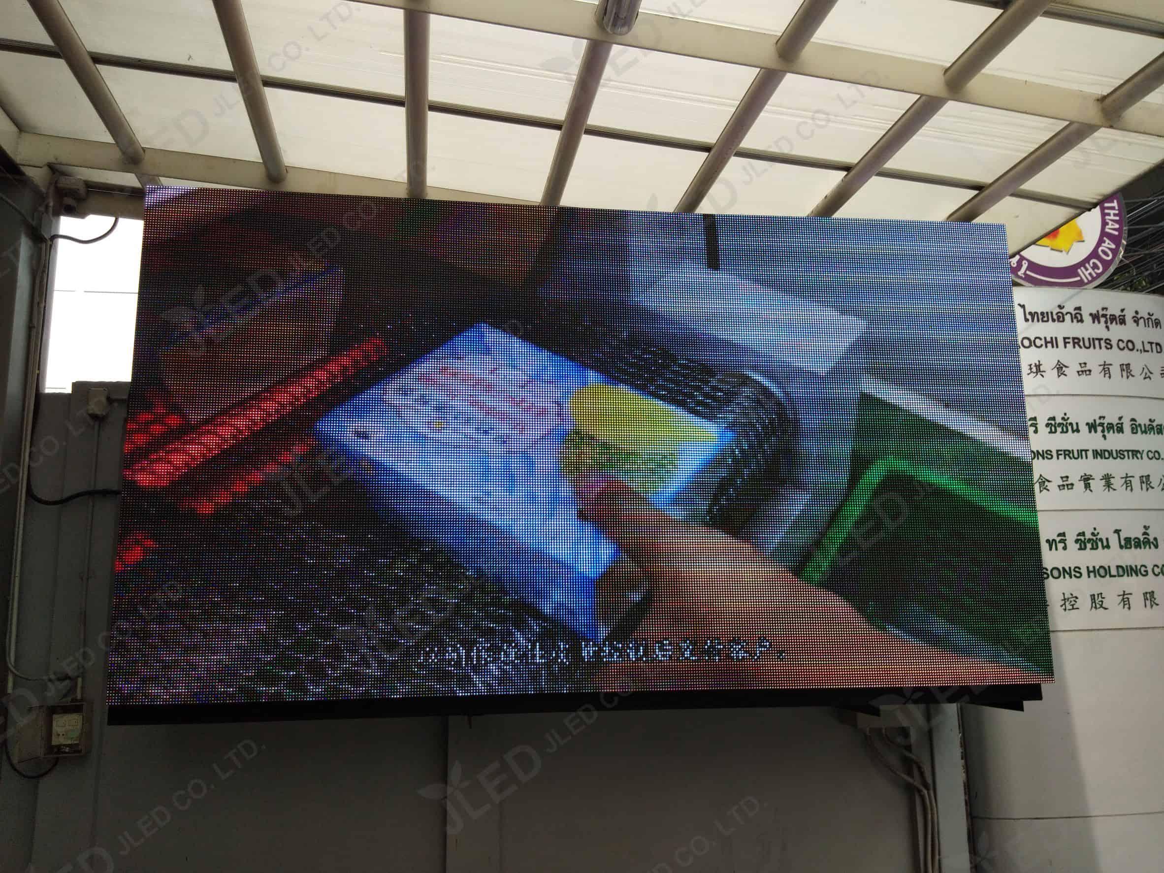 จอled display outdoor p10 fruit industry jled