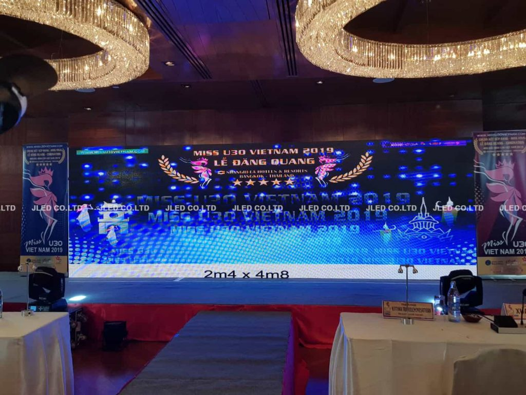 p4.81 จอled display rental vietnam coronation pageant jled miss u30