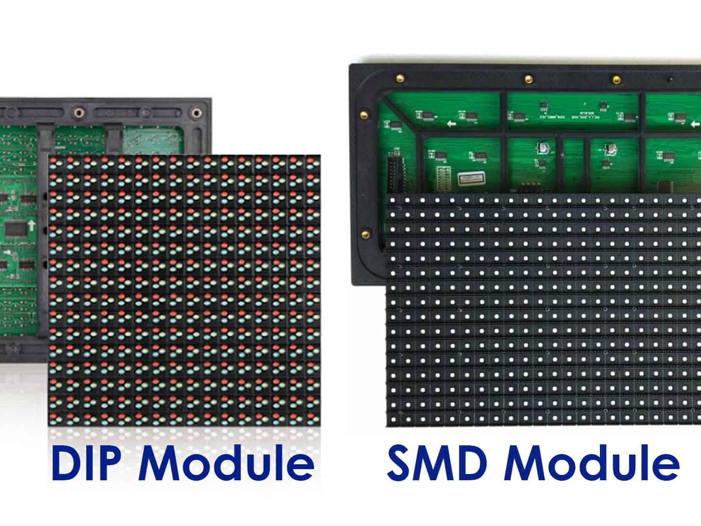 LED Outdoor ระหว่าง SMD และ DIP